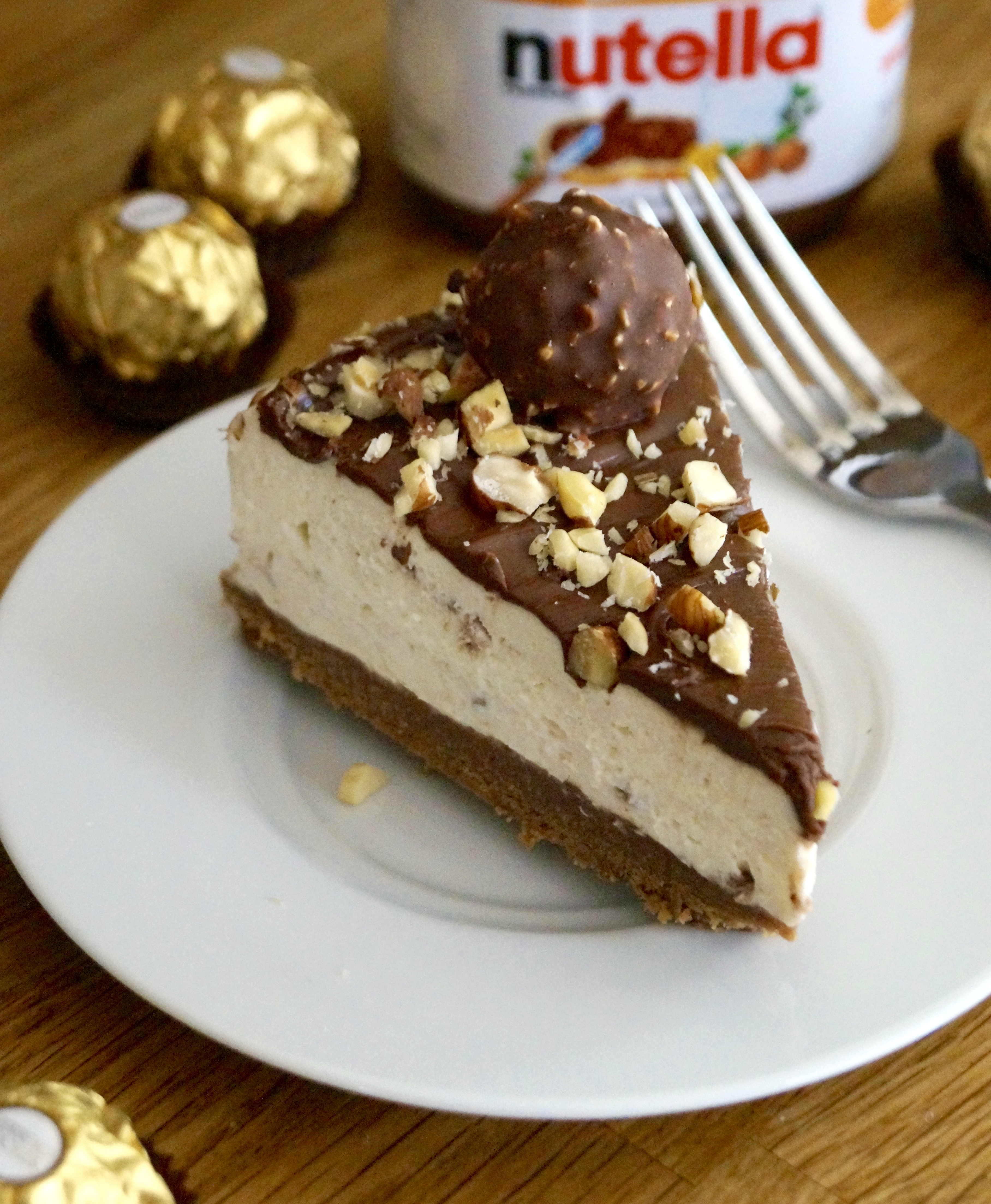 No bake ferrero rocher cheesecake what jessica baked next this recipe of mine was proudly featured in bbc good food magazine may 2014 and also available on bbc good food website forumfinder Image collections