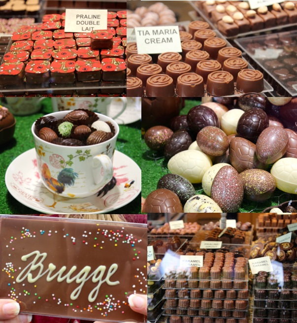 easter and chocolate in bruges