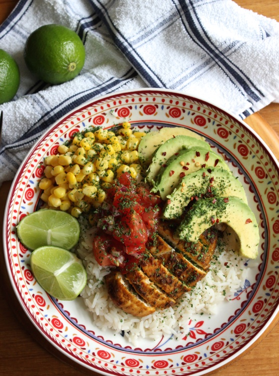 Healthy Mexican-style Chicken & Rice Bowls | What Jessica Baked Next ...