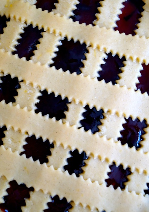 homemade lattice crostata