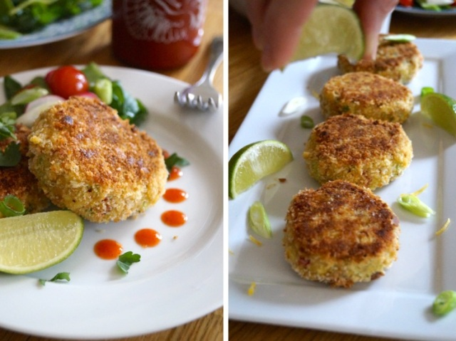 crab cakes plate