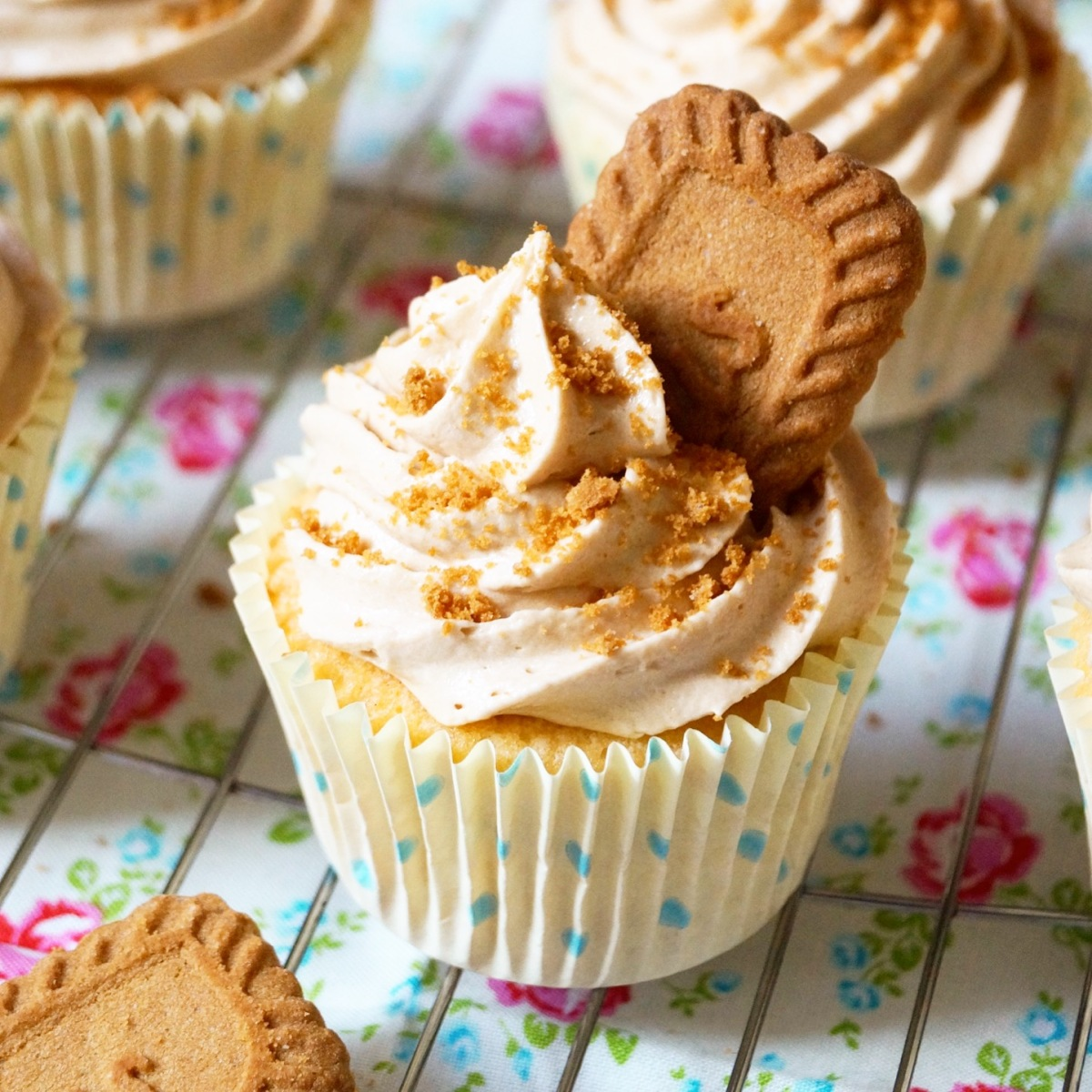 Biscoff Cookie Butter Cupcakes | What Jessica Baked Next...